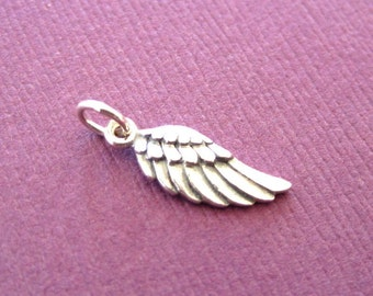 Sterling Silver Angel Wing Charm - Left  Side