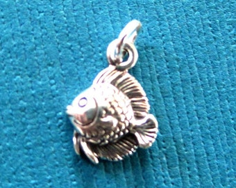 Sterling Silver Angel Fish Petite Charm