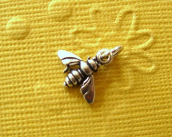 Sterling Silver Honeybee Petite Charm