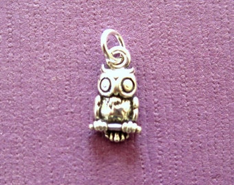 Sterling Silver Owl Petite Charm
