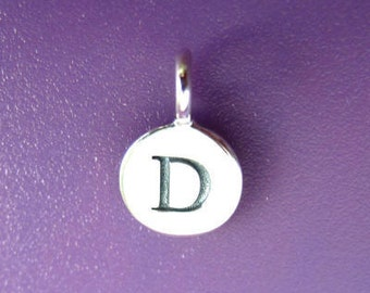 Sterling Silver Alphabet Letter D Initial Charm