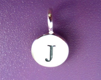 Sterling Silver Alphabet Letter J Initial Charm
