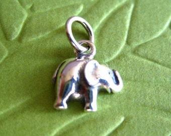 Sterling Silver Elephant  PetiteCharm