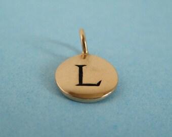Bronze Alphabet Letter L  Initial Charm