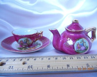 Mini Teapot and Tea cup Porcelain Japan