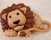 Faux Wood Lion pendant
