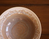 SALE - Scalloped Serving Bowl in Earthy Pearl