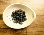 White Pottery Berry Bowl with Handle - Casie & Nate's Wedding Registry