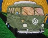 Volkswagen Bus Patchwork Quilt
