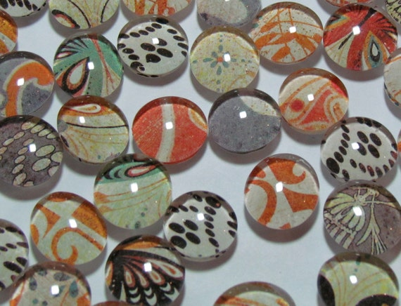Fiery Butterflies - Set of 9 glass magnets