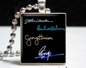 Beatles Signatures Scrabble Pendant