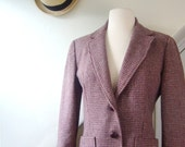 1970s vintage blazer / lavender mauve soft tailored wool / small