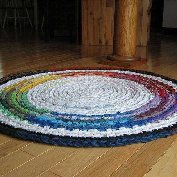 Crocheted  Rug -   Color Wheel Series