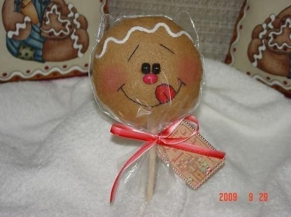 Gingerbread Cookie Pop Ornament EPattern