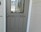 Welcome Vinyl Lettering Decal