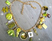 Lime Green Charm Necklace