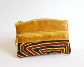 South Industry Coin Mola Purse/ yellow leather