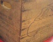 Vintage wooden box from early 1900