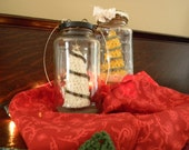 Yellow Country Christmas tree in a Jar