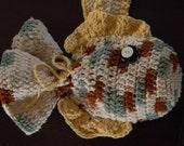 purse bag tote crochet fish children's toy