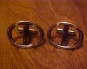 3 Pair Oval Silver Look Mens Cuff Link Blanks Lot 18 x 25 mm
