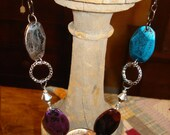 Multi Jewel Tone Colors Large Acrylic Beads Chain Necklace