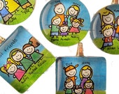 Personalized Pendant custom hand-drawn family for necklace from doodle me.
