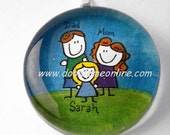 Personalized Pendant family custom drawing unique gift for Moms, Grandmas, Sisters, Daughters