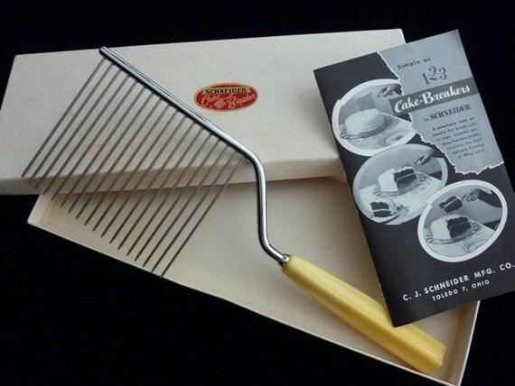 Art Deco Cake Breaker Knife Schneider by atelierNo22 on Etsy