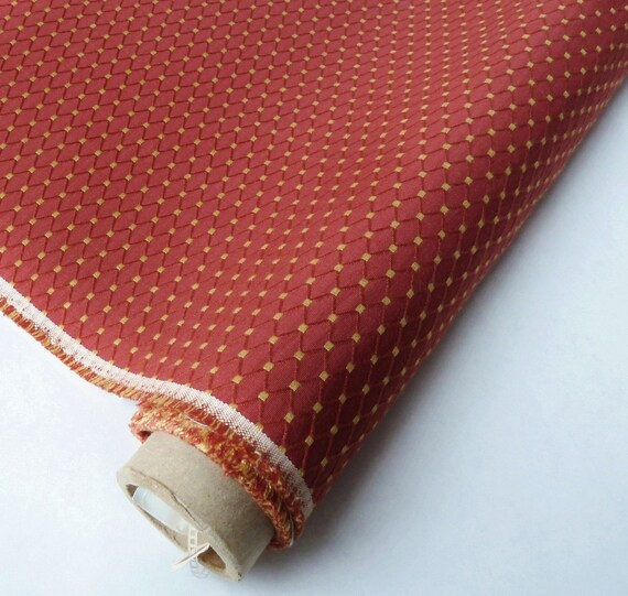 Red Yellow Autumn Fall Diamond Pattern Upholstery By