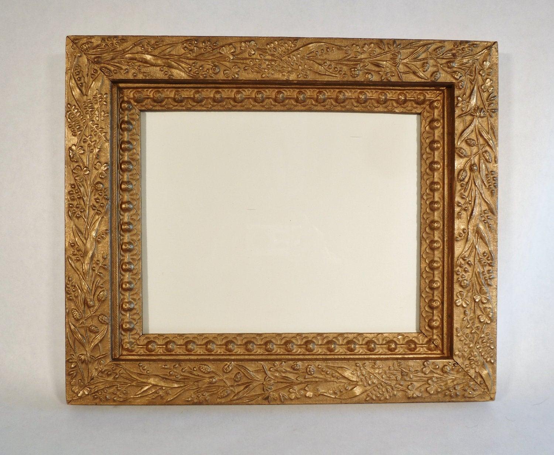 antique victorian ornate gold frame 8 x 10 gesso. Black Bedroom Furniture Sets. Home Design Ideas