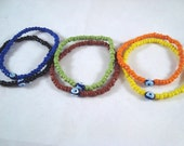 Sports Team Colors Evil Eye Lucky Stretch Bracelets Nazar Mati Protection
