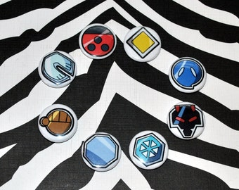 Johto Region Pokemon Gym Badges