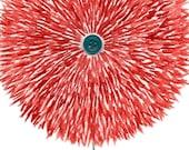 Red Flower (original watercolor, 4in x 6in)