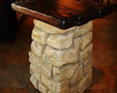 old world style faux rock terrarium base with top