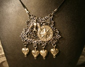 Fly to my Heart Steampunk Victorian Necklace