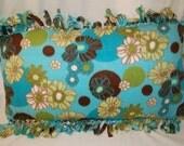 Retro Flower Fleece Pillowcase