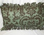 Fleece Pillowcase Country Greens