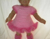 Ballerina skate dress with ugg type boots in pink