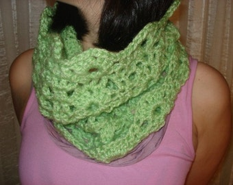 Cowl lime scarf