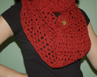 infinity scarf with removable flower