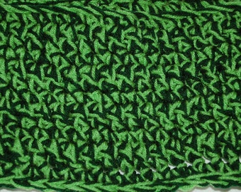 Deep green lime green infinity scarf cowl perfect for saint Patrick's day