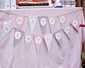 Train Happy Birthday Banner - DIY, Printable, Instant Download