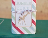 DIY Printable Juice Box Wraps - Zoo/Safari Party