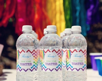 DIY Printable Water Bottle Labels - Hot Air Balloon Party