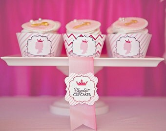 DIY Printable Food Labels/ Tents - Princess Party