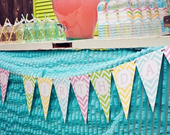 DIY Printable Birthday Banner - Sweet Shoppe Party