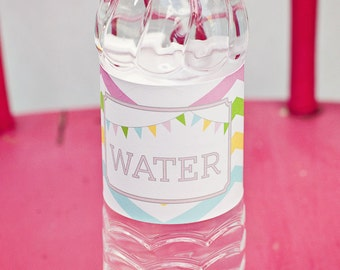 DIY Printable Water Bottle Labels - Sweet Shoppe Party