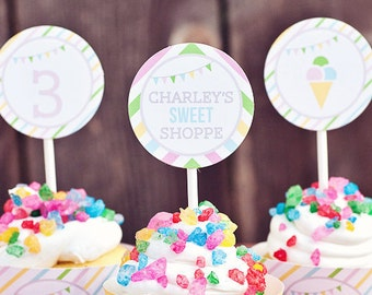 DIY Printable Party Circles - Sweet Shoppe Party