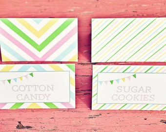 DIY Printable Food Labels/ Tents - Sweet Shoppe Party